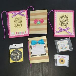 Combo of 4 Handmade Mini Journal and 3 Magnets